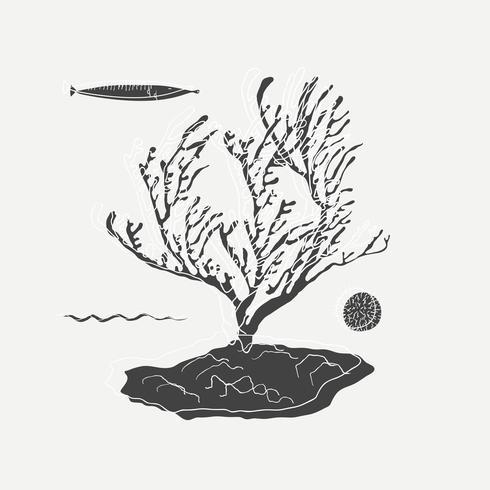 Unter der Meerillustration