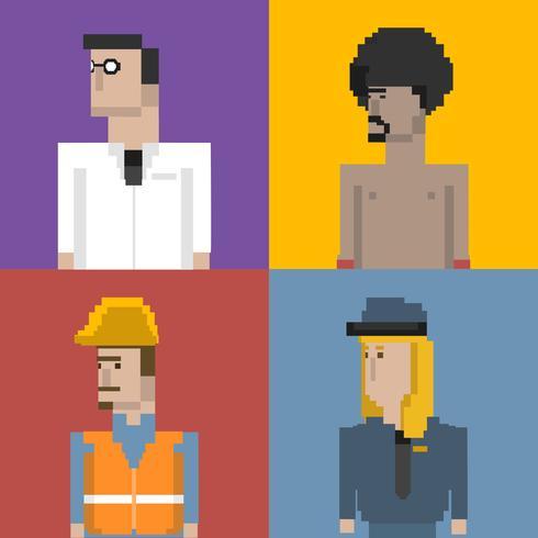 Pixel illustratie van bezetting