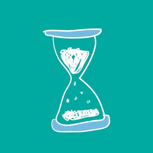 Illustration av timglasdoodle