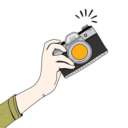 Vector van vintage camera