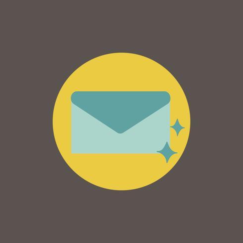Ilustração, de, correio, ícone, símbolo