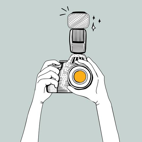 Vector van DSLR-camera