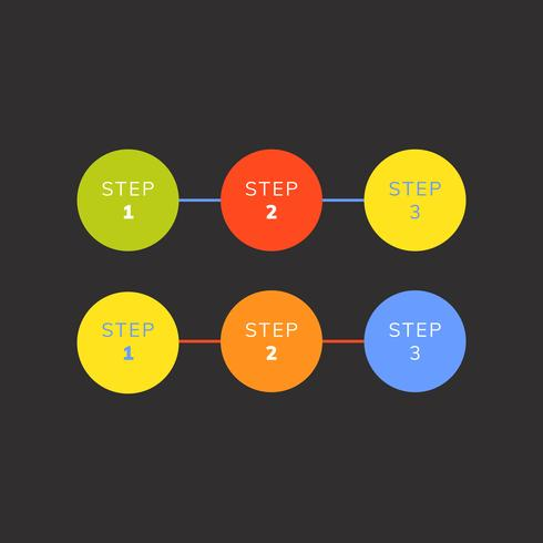 Numbered steps business infographic vector