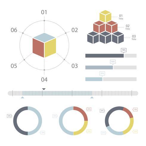 Legen Sie Elemente der Infografik fest
