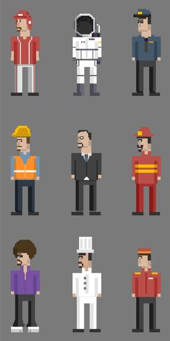 Vector set of men and professions