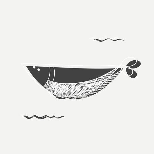 Fisch Gekritzel Vektor