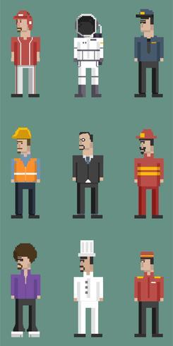 Vecteur série d'hommes et de professions