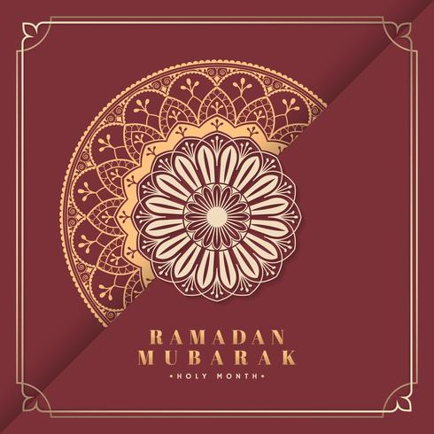Rote Eid Mubarak-Karte