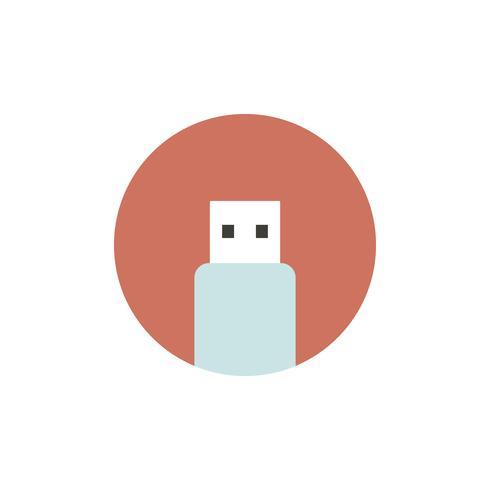Vector de icono de unidad flash