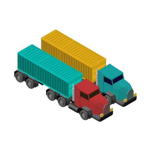 Camion camion isolato su sfondo