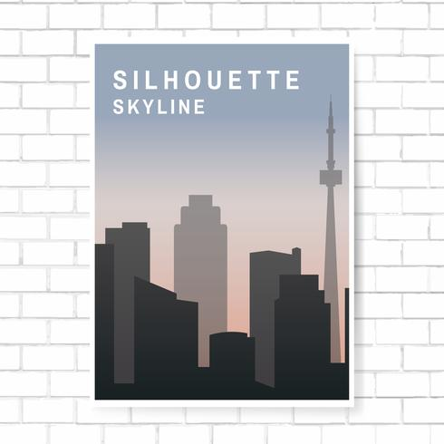 Illustration de skyline silhouette
