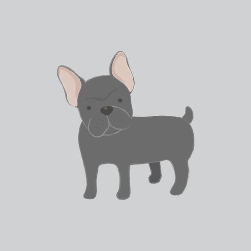 Illustrazione sveglia di un bulldog francese