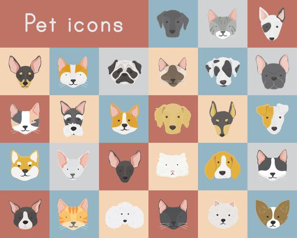 Cats and dogs icons