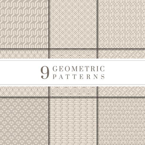 Coleção mínima padrão geométrico bege