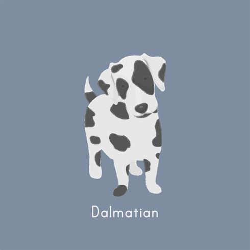 Cute illustration of a dalmatian dog