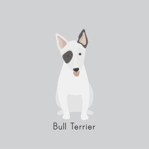 Jolie illustration d'un chien bull terrier
