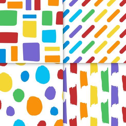 Raccolta di vettore di modelli di design colorato senza soluzione di continuità