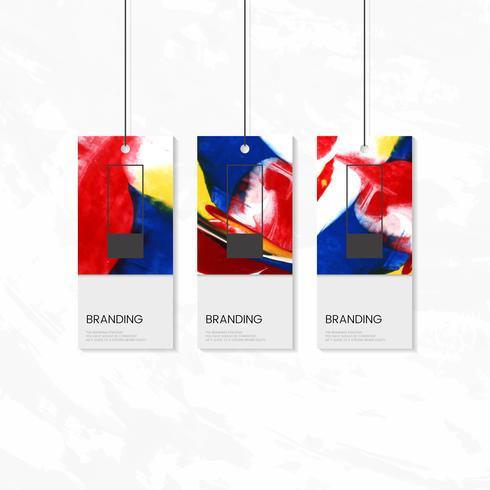 Klädmärke med konstnärlig design