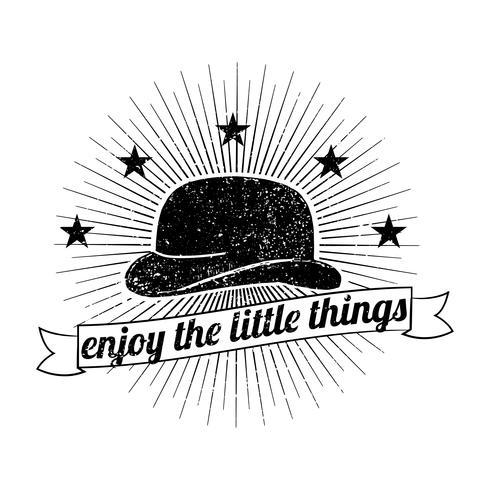 Mens hat logo illustration