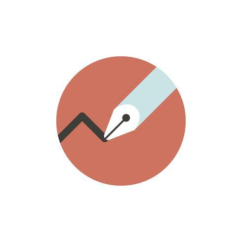 Vector de icono de linea grafica