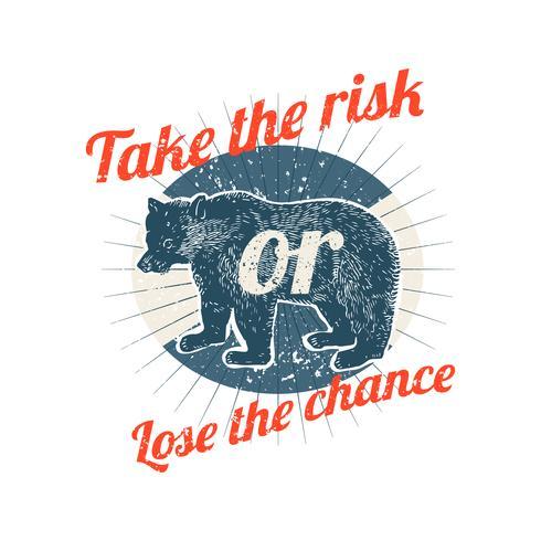Take risks badge illustration