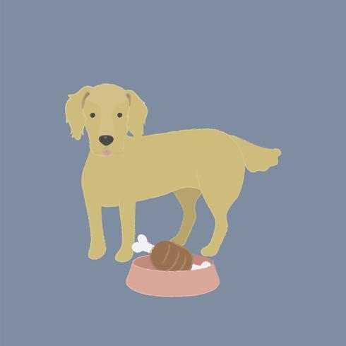Nette Abbildung eines Hundes des goldenen Apportierhunds