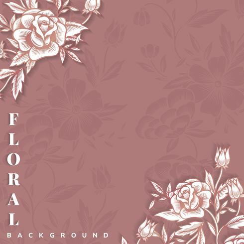 Blomgräns med kopia utrymme