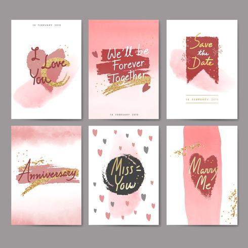 Conception de cartes douces pour la Saint-Valentin