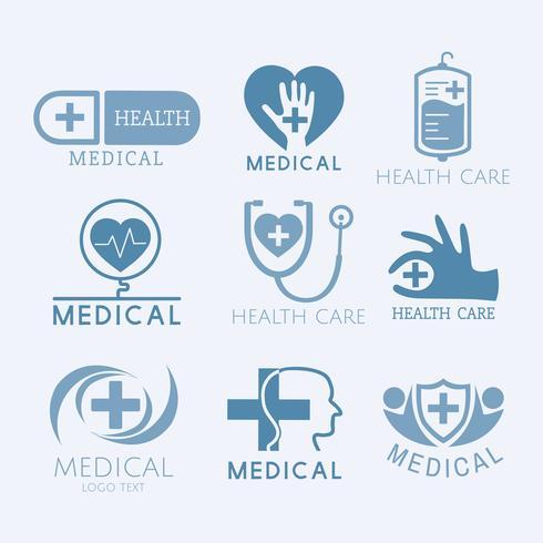 Medische dienst logo's vector set