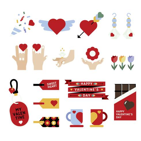 Liefde pictogramserie