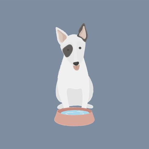 Linda ilustración de un perro bull terrier