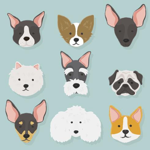 Illustration de la collection de chiens