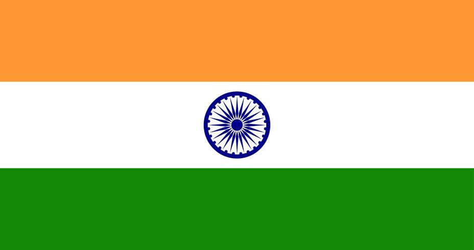 Illustrazione della bandiera dell'India