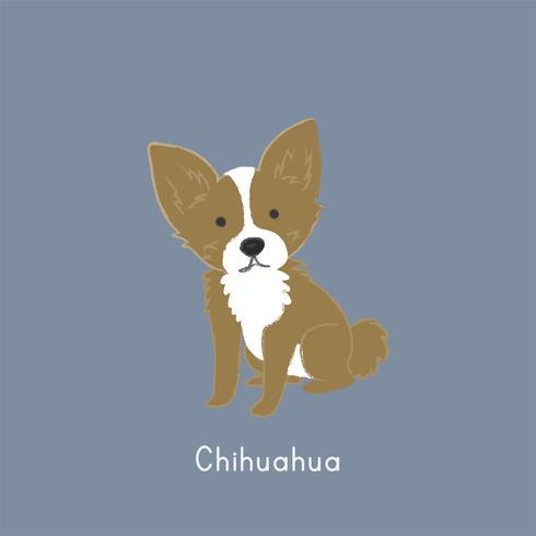 Linda ilustración de un perro chihuahua