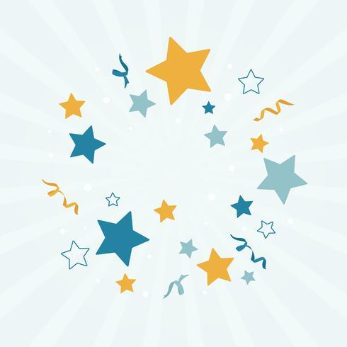 Ilustración de fondo de estrellas