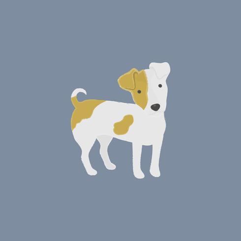 Linda ilustración de un perro jack russel