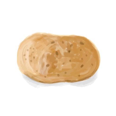 Hand getrokken aardappel aquarel stijl