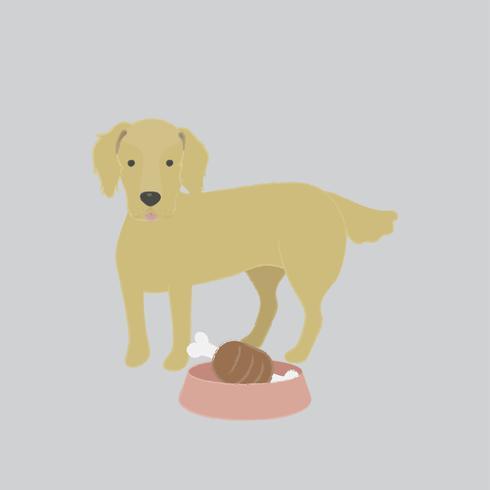 Ilustração bonita de um cachorro golden retriever
