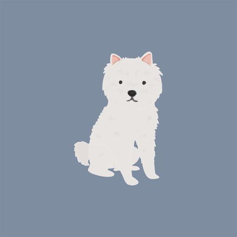 Leuke illustratie van een westiehond