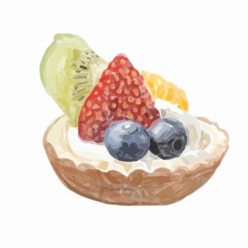 Handgezeichnete Dessert Aquarell Stil