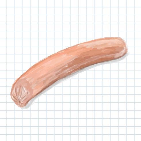 Dibujado a mano estilo hotdog acuarela