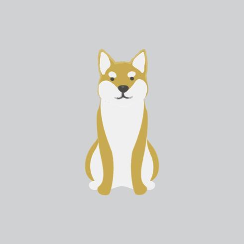 Linda ilustración de un perro shiba inu