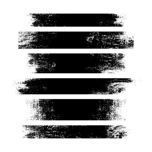 Banderas angustiadas de trazo negro