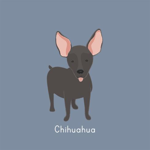 Ilustração bonito de um mini cão pinscher