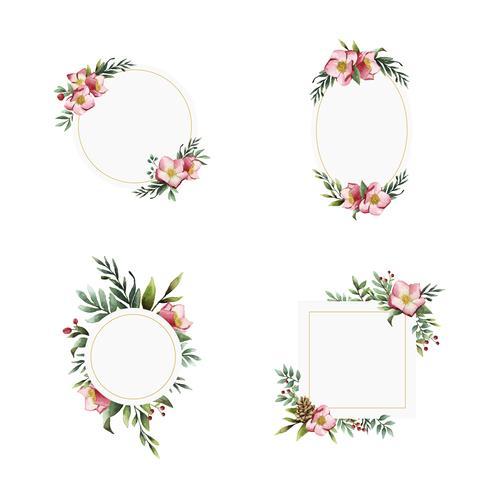 Desenhos de convite floral