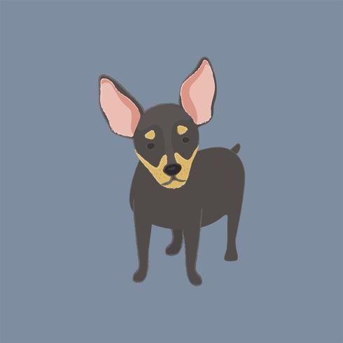 Ilustração fofa de um cachorro chihuahua