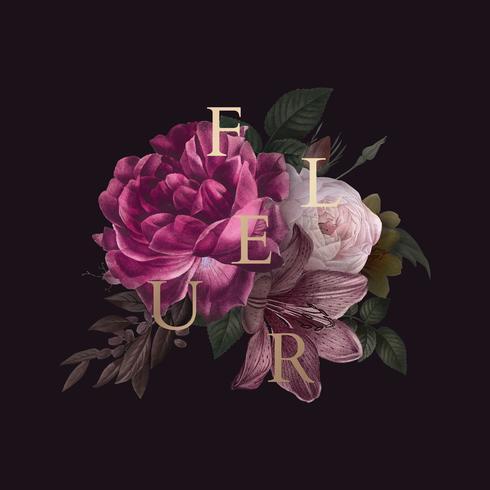 Fleur floral Abzeichen
