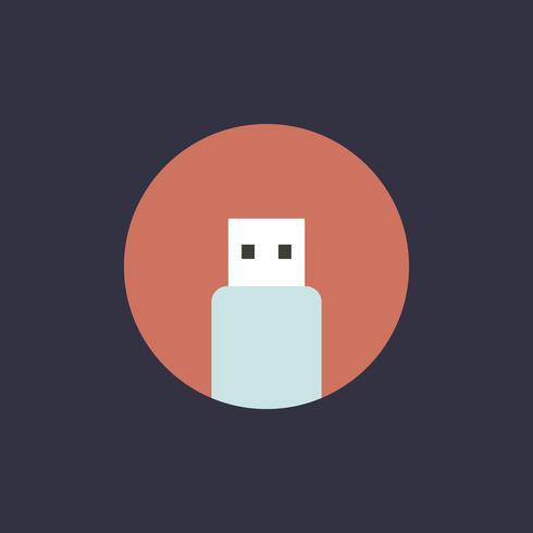 Vector de icono de vector de unidad flash