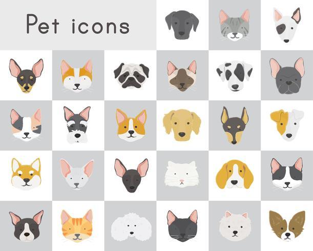 Icone di gatti e cani