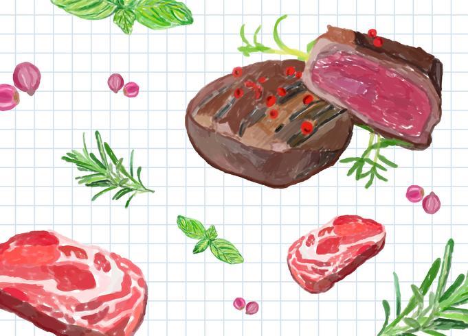 Dibujado a mano filete estilo acuarela